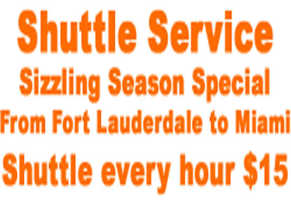 Fort Lauderdale Airport Shuttle discounts